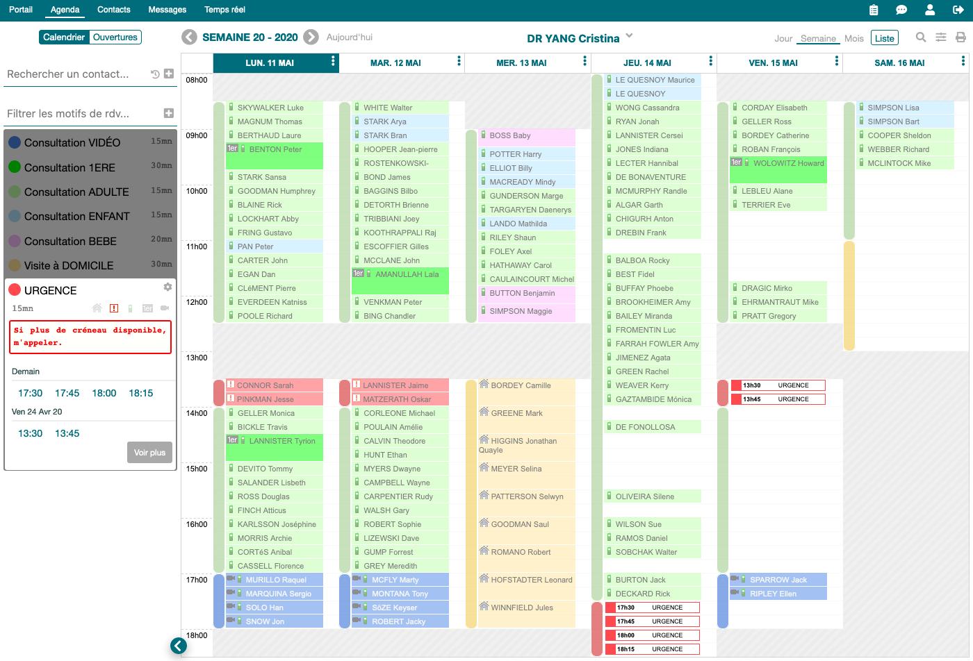 Agenda en ligne pour professionnels de santé