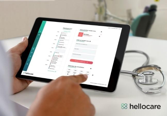 Hellocare téléconsultation depuis tablette